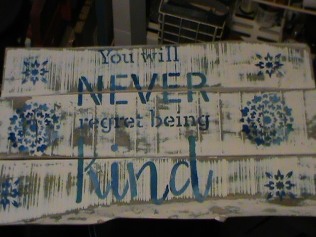 acts of kindness was my inspiration for this pallet sign