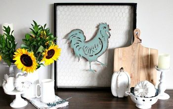 How to Add Farmhouse Charm to Fall Decor & Build a Chicken Wire Frame