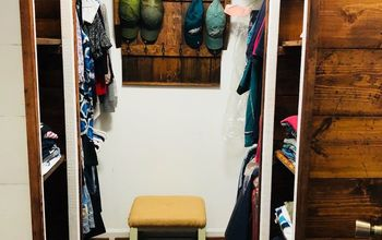 walking closet makeover