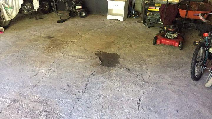 q how do i fix my garage floor