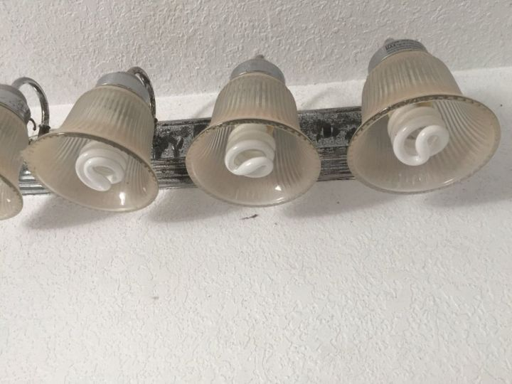 q how do i redo a perfectly good 4 bulb light fixture in the bathroom th