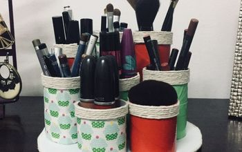 makeup organizer with toilet paper rolls
