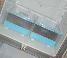 fix plastic door inserts and crisper drawer for fridge