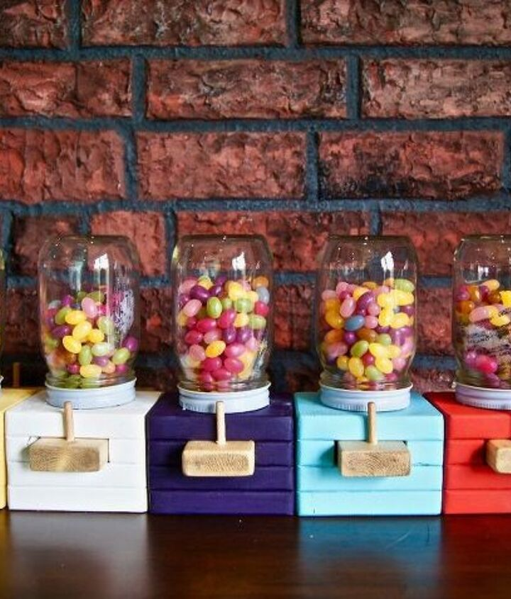 how to make a wood candy dispenser
