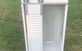shutter cabinet build
