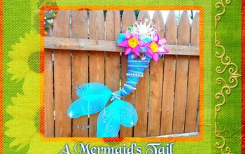 diy dollar tree witch hat into a mermaid wreath