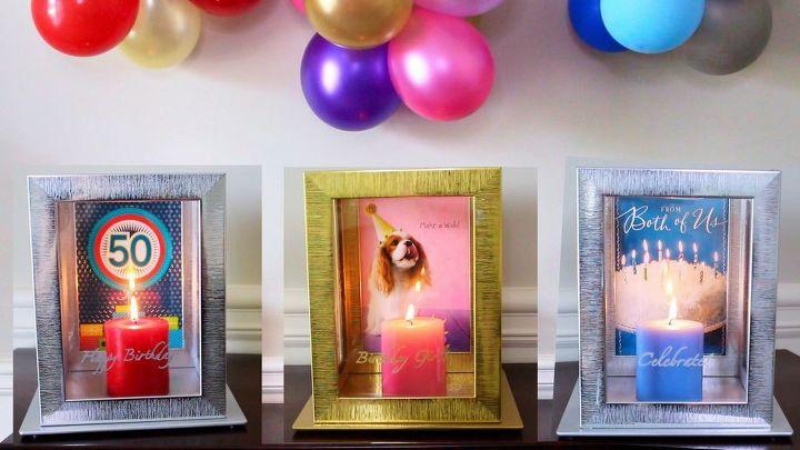 birthday photo frames lanterns