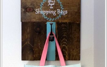 diy shopping bag hanger and sign