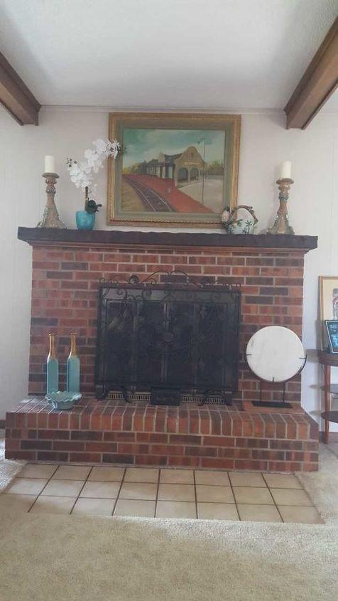 q how should i update my 1974 brick fireplace