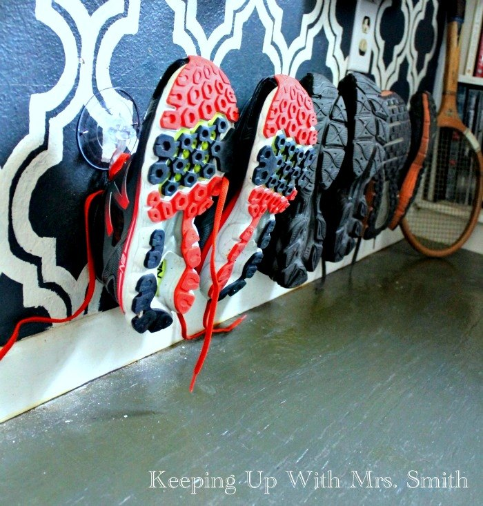 s 30 fun ways to keep your home organized, Hooks Are Perfect For Putting Away Shoes