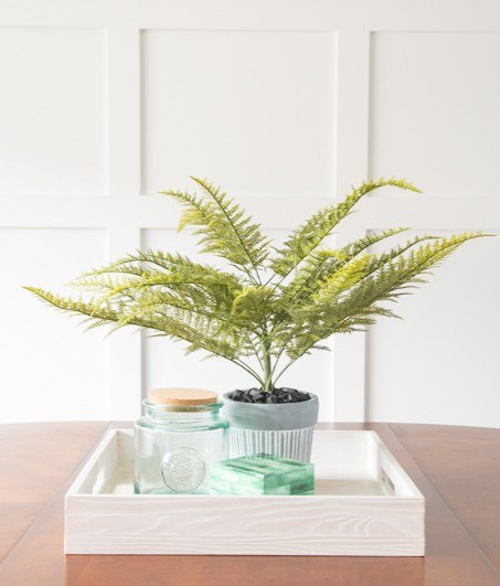 s fake it until you make it 25 creative hacks for high end looks, Display a Faux Fern Arrangement