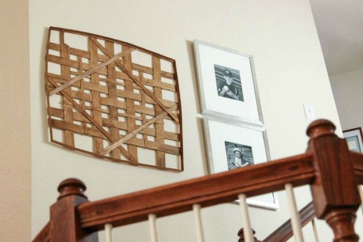 s if your stairway walls are empty here s what you re missing, A unique design out of stained wood