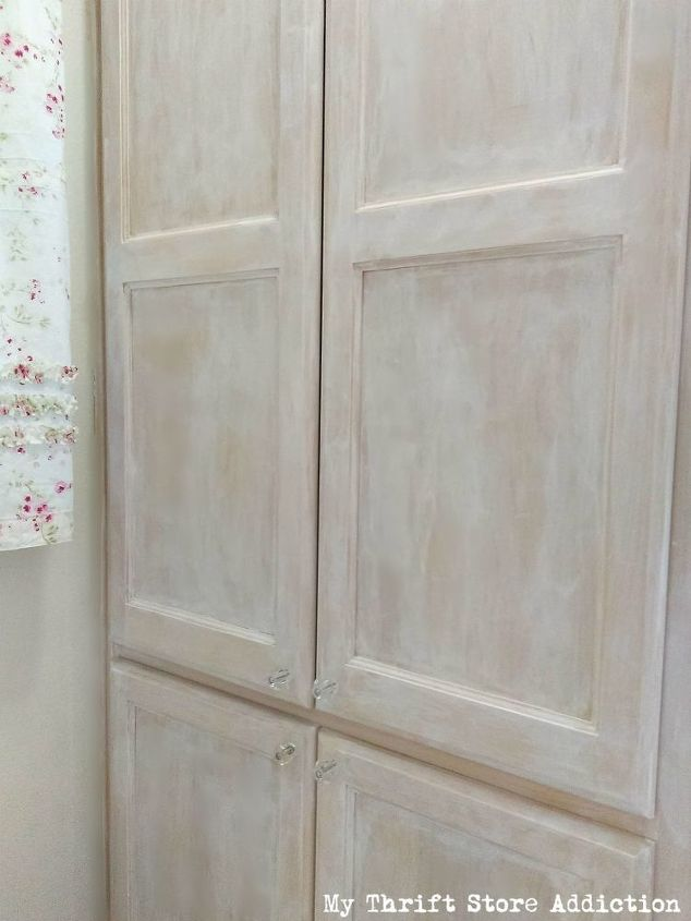 How To Whitewash Cabinets And Doors