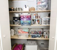 how to create an organized craft supply closet