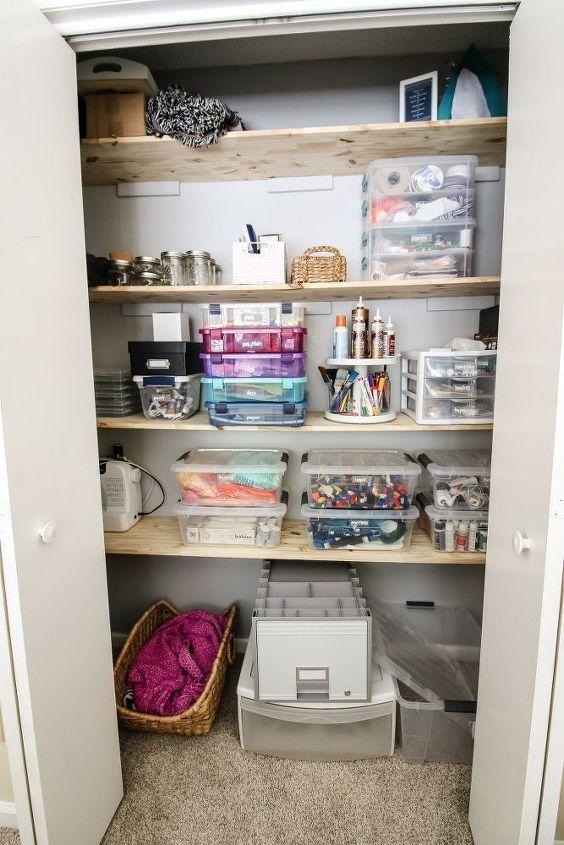 how to create an organized craft supply closet
