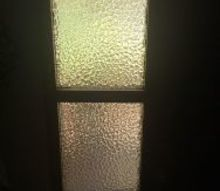 q how can i update these ugly side glass windows next to my door
