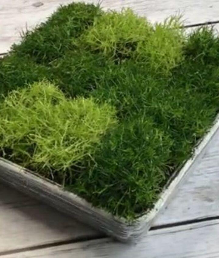 s 30 creative ways to repurpose baking pans, Make mossy monogram decor