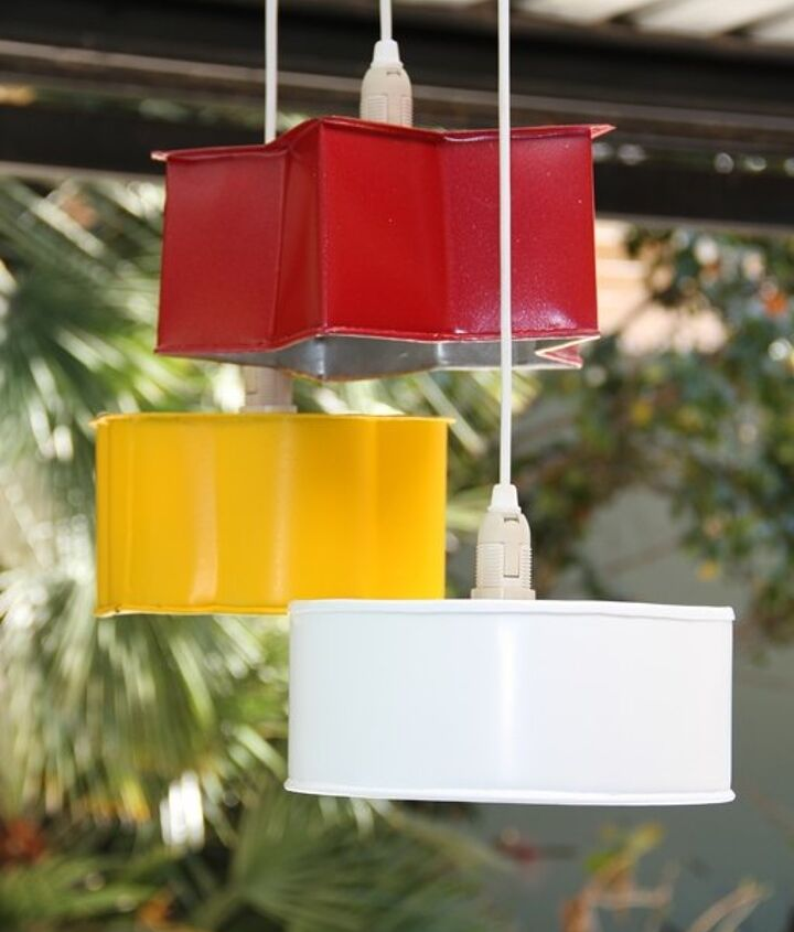 s 30 creative ways to repurpose baking pans, Turn it into a vibrant pendant light