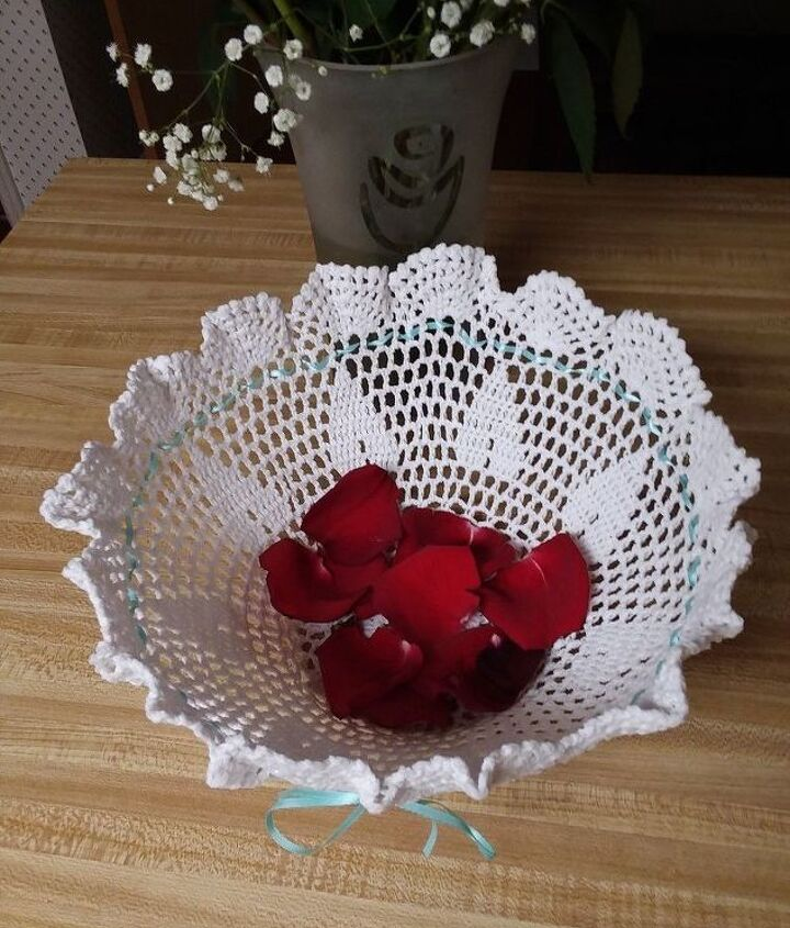 s 21 totally terrific things you can do with doilies, Create A Kindess Bowl