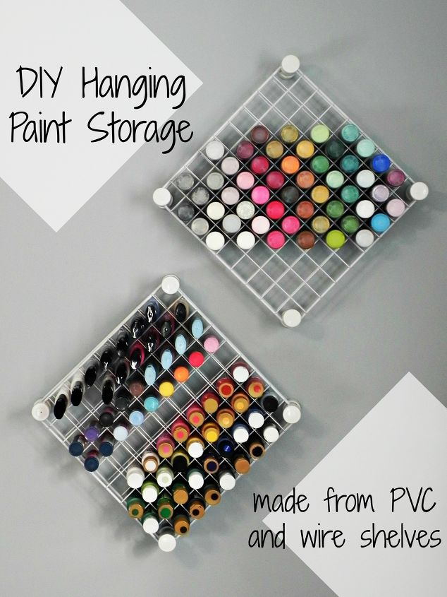 s craft organization ideas mom will love, Hanging Craft Paint