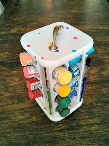 s craft organization ideas mom will love, Old Spice Rack Repurposed