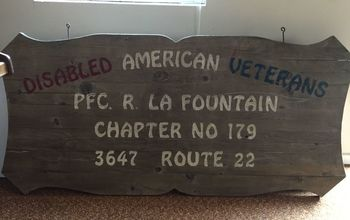q how do i refinish a wooden sign