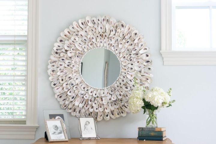 s 30 ways to turn a mirror from drab to fab, Oyster Shell Mirror