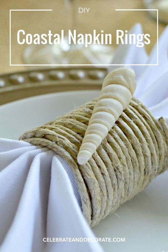 s 31 coastal decor ideas perfect for your home, Craft Coastal Napkin Rings With Hemp