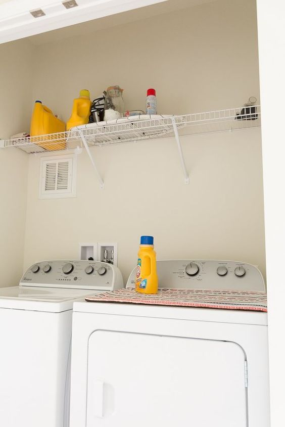 open shelving using stair treads