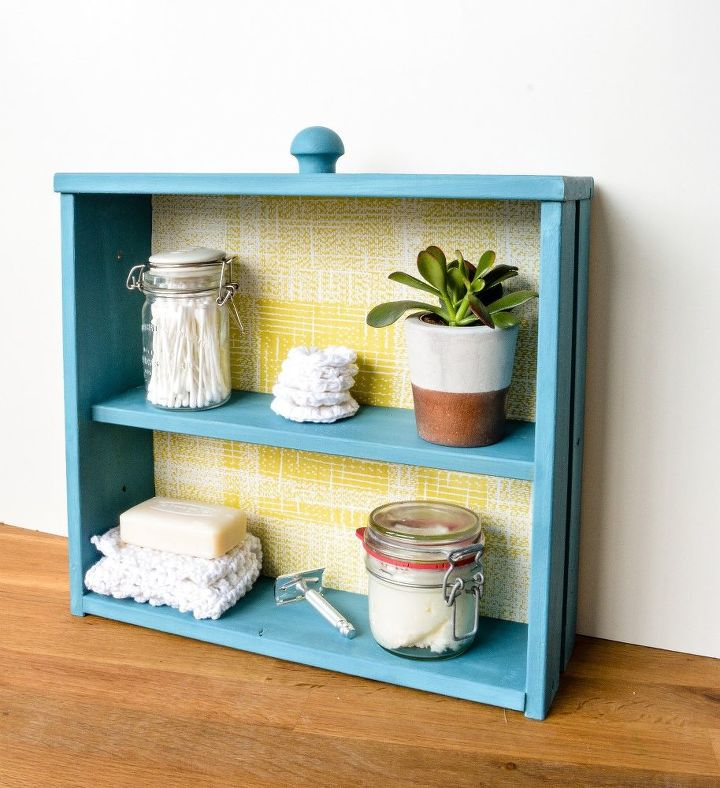 transform a drawer into trendy shelving