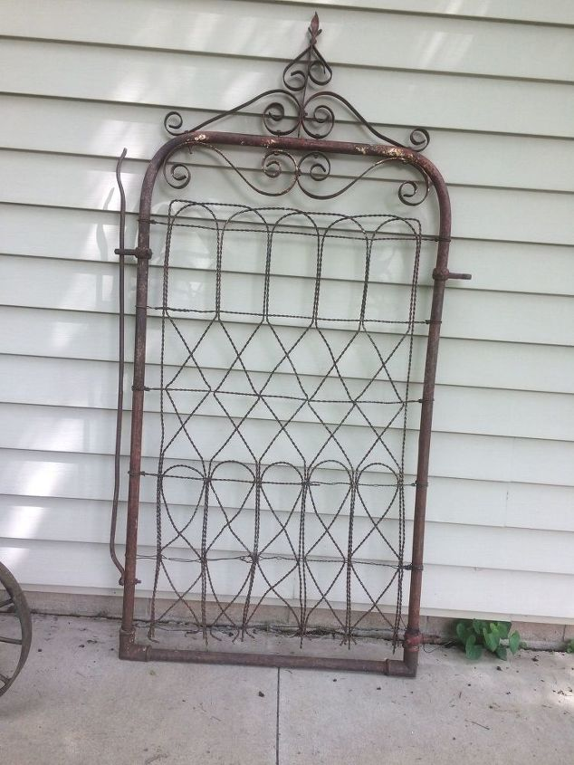 Wire to antique fence gate | Hometalk