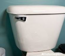 how to replace a broken toilet flush lever
