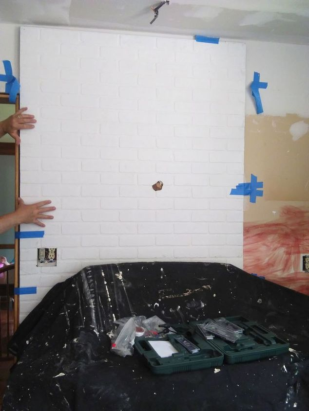 how to install a faux brick backsplash