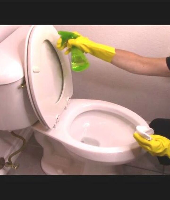 how to clean your toilet from top to bottom