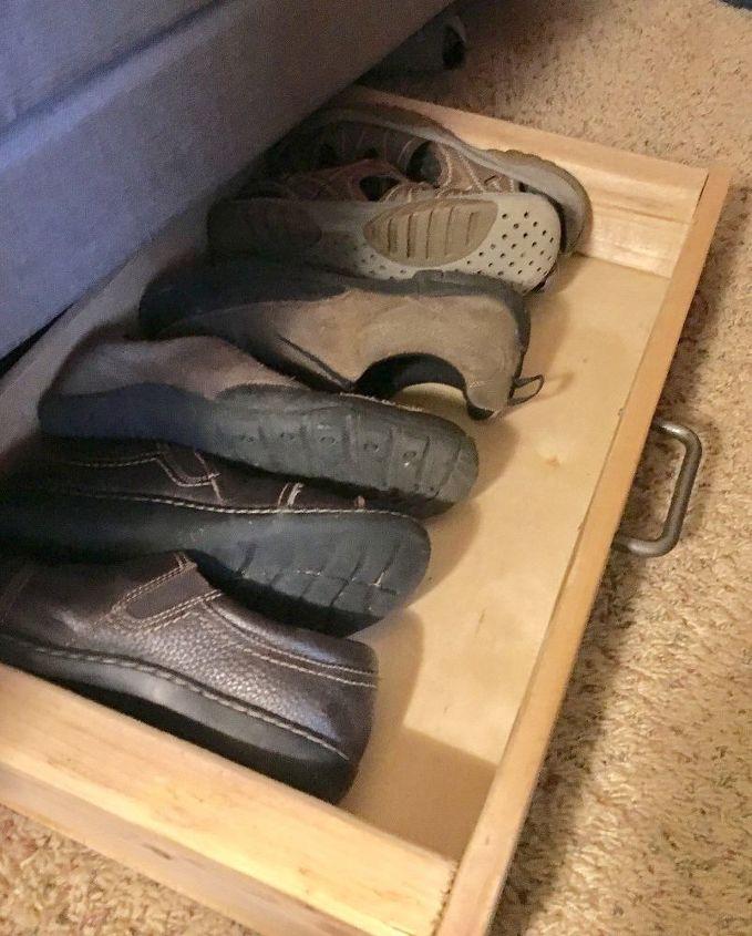 under the bed shoe storage