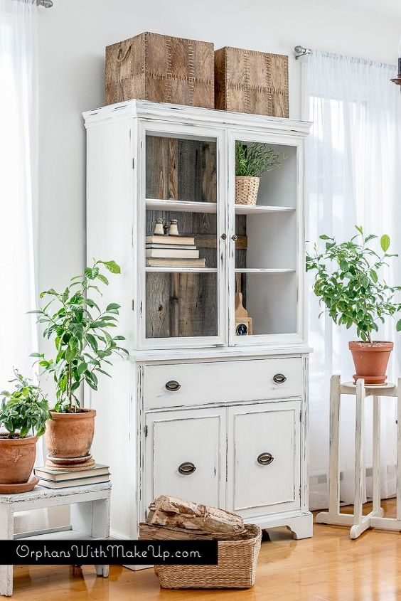 s 20 ways to bring the farmhouse look into your home, Farmhouse China Cabinet Makeover