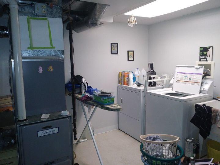 q laundry room w furnace