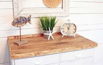 30 00 thrift store dresser gets shabby coastal makeover