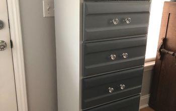 lingerie cabinet makeover
