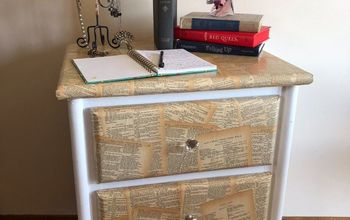 book inspired night stand