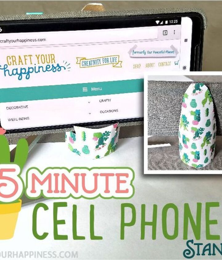 5 minute diy cell phone stand