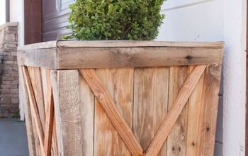 diy large pallet wood planter boxes