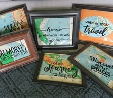 2 back to school map projects, Several map art pics