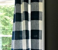easy no sew buffalo check curtains