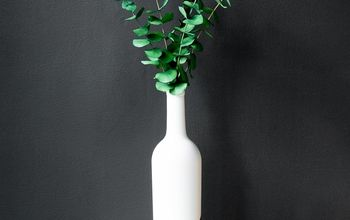 upcycling from wine bottle to modern bud vase