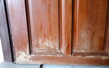q repainting a wooden door