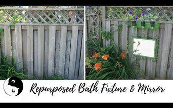 repurpose your bathroom fixtures in the garden