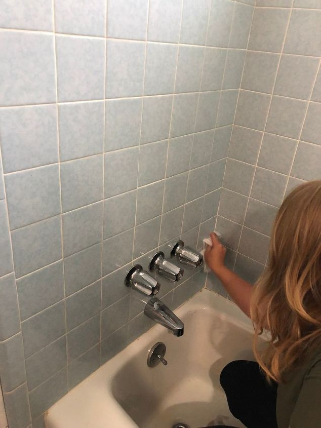 painted shower tile