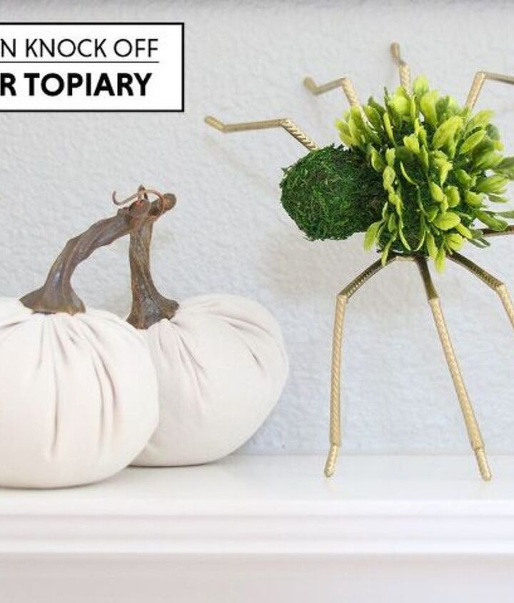 halloween decor pottery barn knock off spider topiary