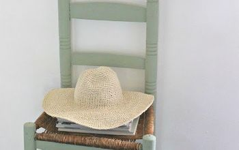 a rustically charming ladder chair paint makeover